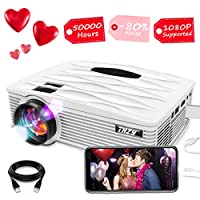 THZY Portable LED 2200 Lumens mini projector for smartphone LCD 1080P Video Projector 50000 Hours,for Amazon Fire TV Stick Laptop iPhone/iPad fire TV stick PS4