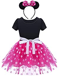 Bebé Niña Vestido de Fiesta Princesa Disfraces Tutú Ballet Lunares Fantasía Vestid Carnaval Bautizo Cumpleaños Baile para Infantiles Recién Nacido Disfraces de Princesa con Diadema 1-6 Años