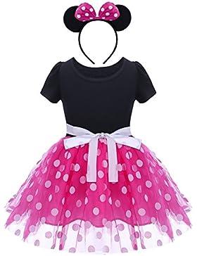 Bebé Niña Vestido de Fiesta Princesa Disfraces Tutú Ballet Lunares Fantasía Vestid Carnaval Bautizo Cumpleaños...