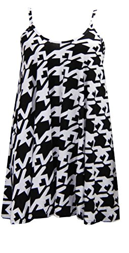 Flirty Wardrobe Jupe Patineusà bretelles Caraco Cami Débardeur Swing 8101214 Mini robe - BIG DOG TOOTH