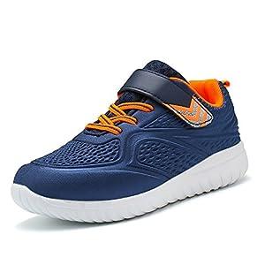 Idea Frames Kinder Sneaker Jungen Leicht Fitness Outdoor Klettverschluss Traillaufschuhe Low-TOP Hallenschuhe