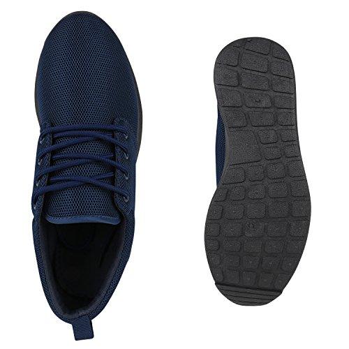 Modische Herren Sportschuhe | Freizeit Sneaker Snake | Laufschuhe Runners Trainers | Sneakers Schuhe Dunkelblau Brooklyn
