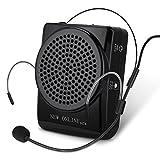 GHB Amplificador de Voz Portátil Ultraligero con Micrófono y Clip de Cinturón Formato MP3 Audio para Profesores Guías Entrenadores Etc.