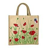 Field Poppy Meadow Jute & Juco Mix Bag