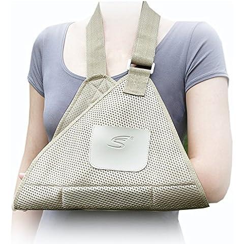Siwei® Arm Wrist Supports Breathable Universal Arm sling ,Adjustable,Air Mesh Shoulder Arm Sling Swathe Brace Broken Arm Fracture Shoulder Dislocation by Ohlees®