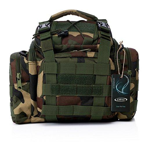 Dienstprogramm Tactical Hüfttasche Militär Molle Angriffs-Pouch Trekking Wandern Bum Gesäßtasche Ruck Sack Tragetaschen H-Dschungel Camo