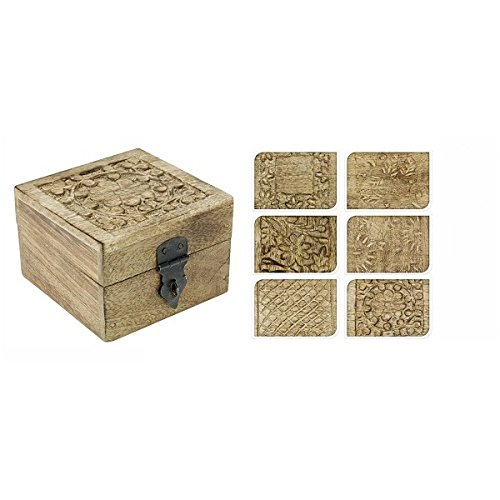 Mangoholz Box 6-f sort. 10x10x