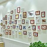Hty xk Fotowand Unternehmenskulturfotorahmen-Schlafzimmerwohnzimmer handgemachte hölzerne Rahmensicherheitsökologischer schöner großer Wandgruppen-Fotorahmen (Farbe : D)