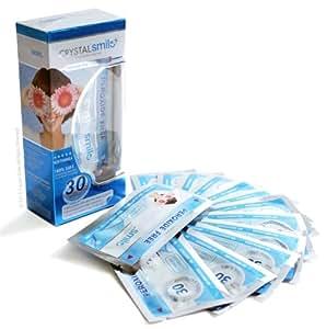 28 Crystal Smile Profesionell Zahnweiß-Streifen (Peroxide frei) Teeth Whitening Strips. Revolutionare 30 Minuten Zahnaufhellungs Behandlung. EU & UK zugelassen