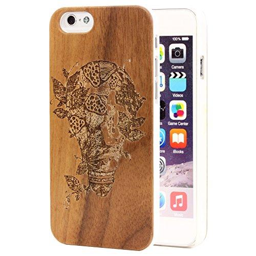 f5f99ee2584 Original Urcover® Full Wood Pattern Style Schutz Hülle für das Apple iPhone  6 Echt Holz