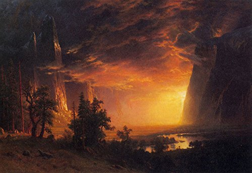 Das Museum Outlet - Sunrise in Yosemite Valley by Bierstadt - A3 Poster