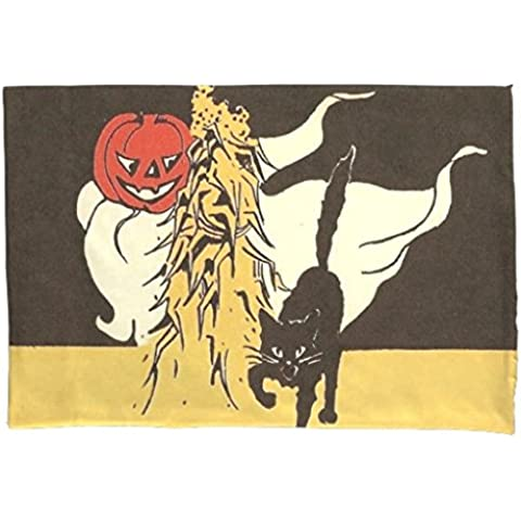 Funda de almohada con cremallera decorative Jack O 'farol fantasma gato negro Cornstalk almohada 20x