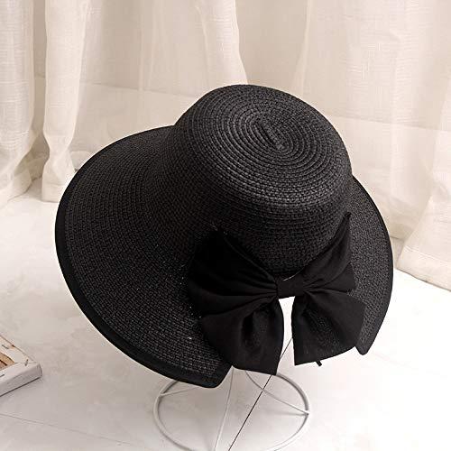 Hat, Men and Women Splitting Bow Basin Cap Outdoor Travel Foldable Shade Fisherman Hat, Black, M