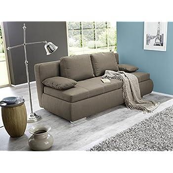 dauerschlfer schlafsofa merlin 210x112cm hellbraun sofa boxspring couch doppelliege schlafcouch - Sofacouch Mit Schlafcouch