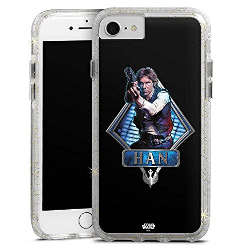 Apple iPhone 6s Bumper Hülle Bumper Case Glitzer Hülle Star Wars Han Solo Merchandise Bumper Case Glitzer gold