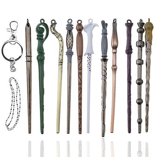 11pcs Harry Potter Zauberstäbe Schlüsselanhänger Set Hermine Dumbledore -