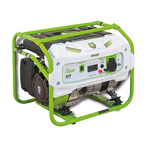 Groway GEN 1300B - Generador eléctrico a gasolina de 90 cc, 1300 W, 230 V,...
