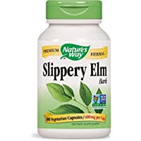 Nature's Way Slippery Elm Bark, 400 mg, 100 Capsules