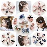 Baby Mädchen Haarspangen,30 stk mehrfarbige Haarspangen für Mädchen mit verschiedenen Designs