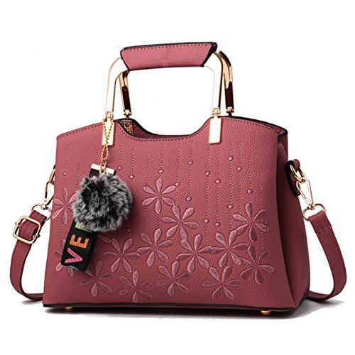 Frauen Taschen Großhandel Handtaschen Wild Komfortable Casual Freizeit Persönlichkeit Trend Pink 27x18x13cm