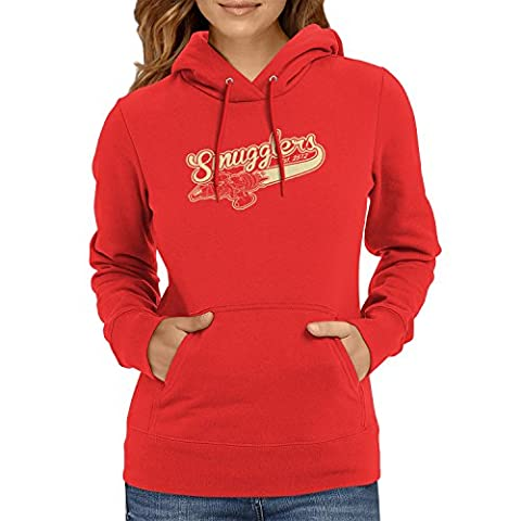 TEXLAB - Smugglers - Damen Kapuzenpullover, Größe XL, rot