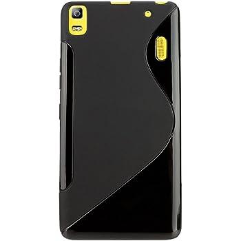 S Case Rubber Back Cover For Lenovo K3 Note (Black)