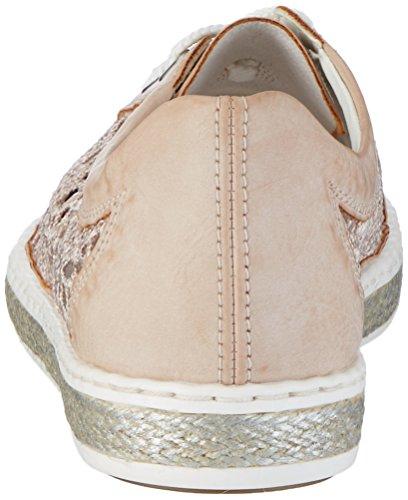 Rieker Damen M8527 Sneaker Mehrfarbig (rose/rose / 31)