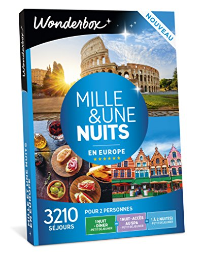 Wonderbox - Coffret cadeau couple - MILLE & UNE NUITS EN EUROPE - 3210 Week-ends en...