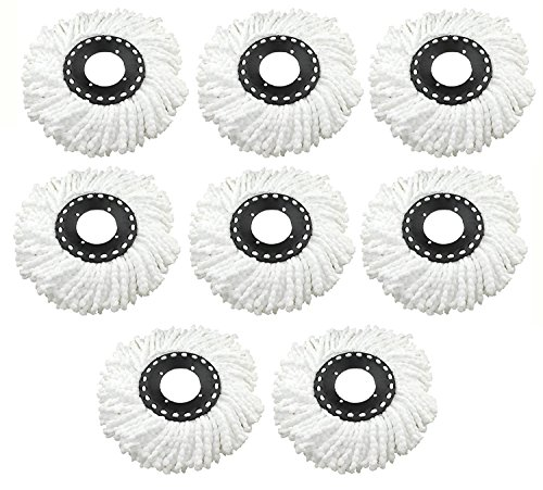 Replacement Refill for 360 Rotating Spin Mop Cleaner - Universal Fit - For Gala, Premsons, Scotch Brite, Pigeon, Primeway etc., Pack of 8  available at amazon for Rs.799