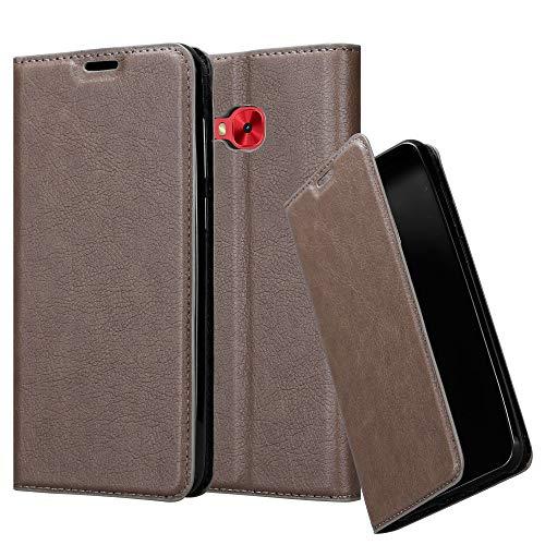 Cadorabo Hülle für Asus ZenFone 4 Selfie PRO - Hülle in Kaffee BRAUN - Handyhülle mit Magnetverschluss, Standfunktion & Kartenfach - Case Cover Schutzhülle Etui Tasche Book Klapp Style