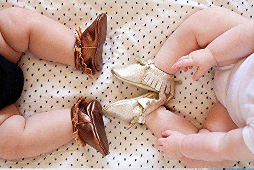 Do Criança Da Bege Couro Borla Walker Chinelos Menina Sapatos Bebê Rastejando Gaorui Com Sapatos Mocassim HRxEwqZR5