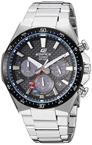 Casio Men's 'Edifice' Quartz Stainless Steel Casual Watch, Color:Silver-Toned (Model: EQS-800CDB-1AVCF)