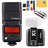 Godox tt350F 2,4G HSS 1/8000s Flash TTL GN36Kamera Speedlite für Fuji Digital Kamera, Godox x1t-f TTL 1/8000s HSS 32Kanäle 2,4G Blitzauslöser Sender für Fuji DSLR-Kameras