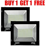 200 Watt Ultra Thin Slim Ip66 Led Flood Outdoor Light Cool White Waterproof-200W