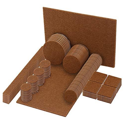 Shintop Möbelfilzpads, 148 Stück Klebepads für Holzbodenschoner geeignet für alle Möbel (Verschiedene Größen) - Filz-pads 16 7