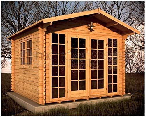 Mondocasette Casa Gartenhaus aus Holz - Modell Sicilia Wandstärke 28 mm 3 x 3 m, Holzablagerung