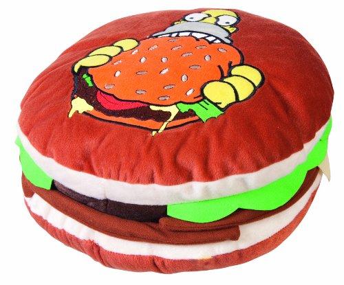 united-labels-0110072-los-simpson-cojin-con-diseno-de-hamburguesa-31-x-12-cm