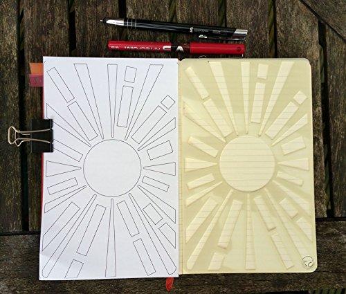 bullet-journal-stencil-planner-stencil-bujo-stencil-sunburst-leuchtturm1917