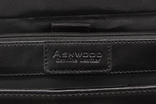 Ashwood Windsor, Borsa per documenti e portatile, Uomo Nero (Schwarz)