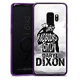 DeinDesign Samsung Galaxy S9 Slim Case lila Silikon Hülle Schutzhülle The Walking Dead Spruch Daryl Dixon
