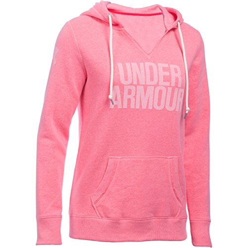 Under Armour Damen Fitness Sweatshirt Favorite Fleece Hoodie, Knock Out, S, 1283253 -