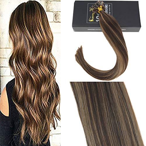 Sunny 50g/pack extension capelli cheratina veri 16