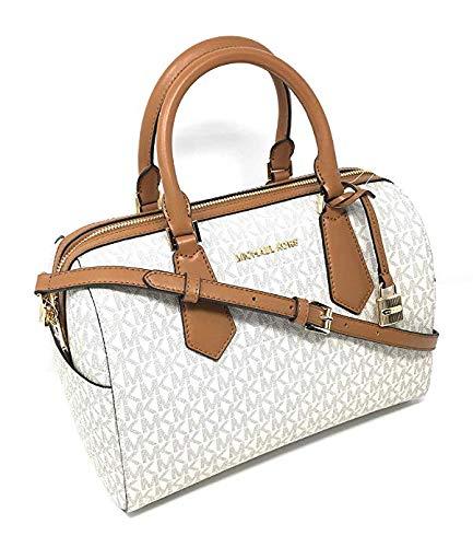 Michael Kors Hayes Large Duffle Satchel Bag MK Signature … -