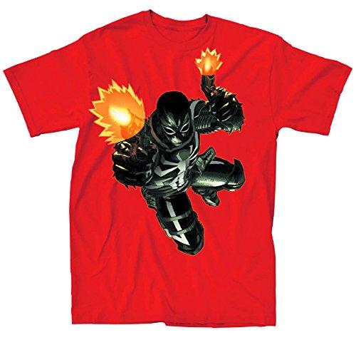 Agent Venom Flash Shot Red T-Shirt | XXL - Flash Venom