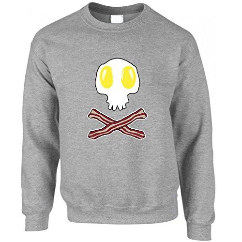 & Cross Bones-Geschenk-Idee Logo Frühstück Unisex-Pullover (Ideen-halloween-lebensmittel)