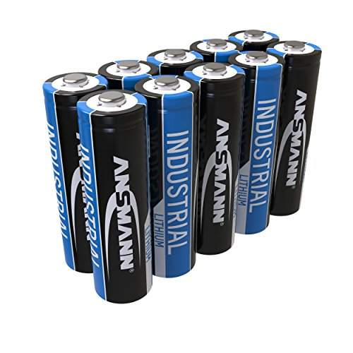 10x ANSMANN 1502-0005 Lithium-Industriebatterie High Energy AA Mignon FR6 L91 LR06 3000mAh 1.5V - High-power-lithium-ionen-batterien