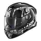 Shark SKWAL 2Trion cascos de motocicleta, color negro/blanco, talla L