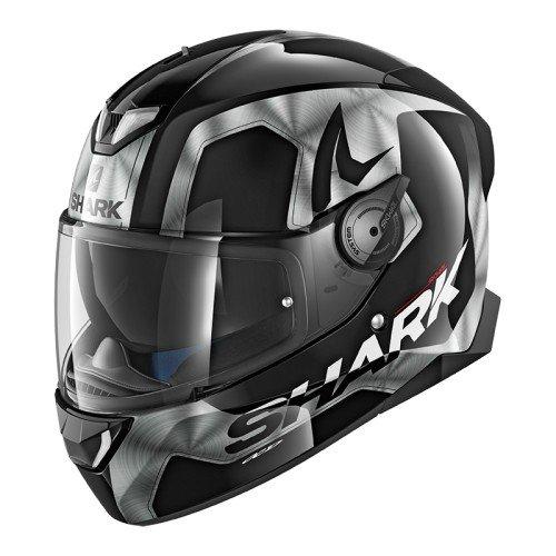 Shark SKWAL 2Trion cascos de motocicleta, color negro/blanco, talla M