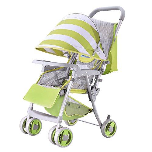 baby stroller Chariot pour Enfants Ultraléger Bébé Voiture Peut S'asseoir Mensonge S'effondrer Parapluie,3