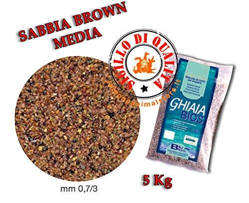 Mantovani Pet Diffusion Gravel BIOS Sand Brown Media–5000g 1